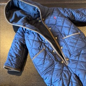 Polo Toddler Quilted Navy Snowsuit